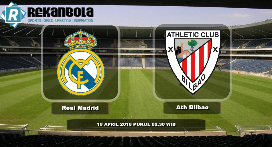 Live Streaming La Liga Spanyol Real Madrid vs Athletic Bilbao, Kamis 19 April 2018