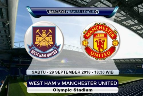 Prediksi Skor West Ham vs Manchester United 29 September 2018