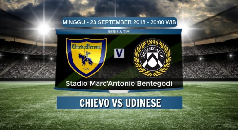 Prediksi Skor Chievo vs Udinese 23 September 2018