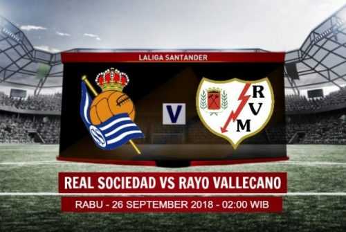 Prediksi Skor Real Sociedad vs Rayo Vallecano 26 September 2018