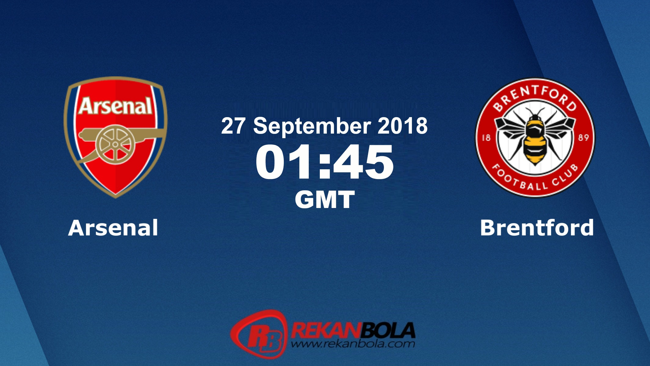Nonton Siaran Live Streaming Arsenal Vs Brentford 27 September 2018