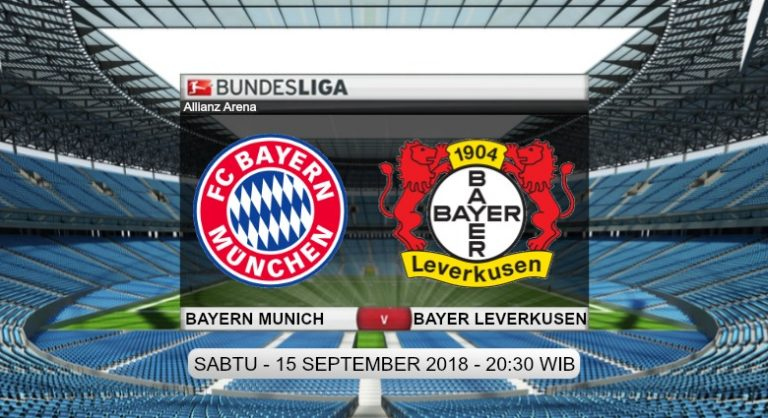 Prediksi Skor Bayern Munich vs Bayer Leverkusen 15 September 2018