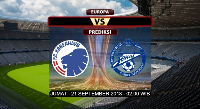 Prediksi Skor FC Copenhagen vs Zenit Petersburg 21 September 2018