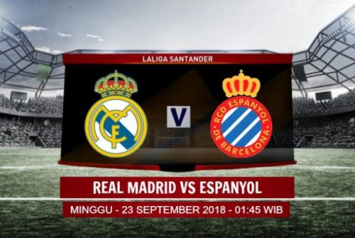 Prediksi Skor Real Madrid vs Espanyol 23 September 2018