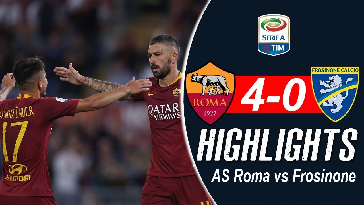 Highlights Serie A: AS Roma 4-0 Frosinone