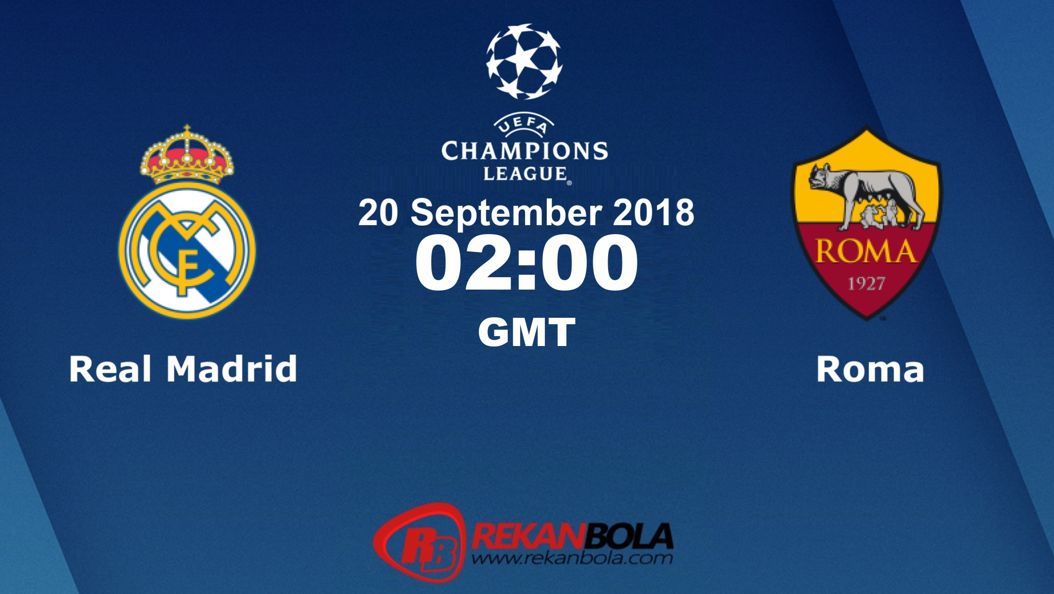Nonton Siaran Live Streaming Madrid Vs Roma 20 September 2018