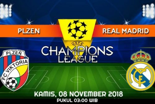 Prediksi Skor Plzen vs Real Madrid 08 November 2018