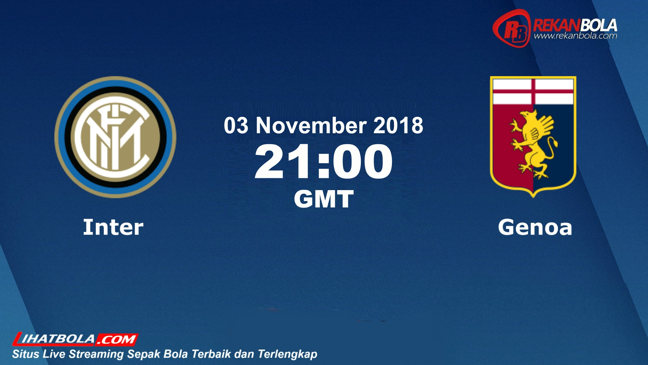 Nonton Siaran Live Streaming Inter Vs Genoa 03 November 2018