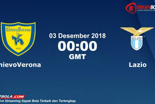 Nonton Siaran Live Streaming Chievo Vs Lazio 03 Desember 2018