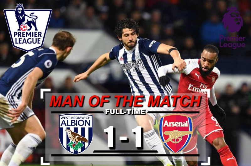 Highlights  Premier League : West Brom 1 – 1 Arsenal