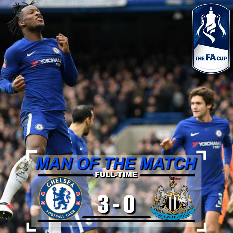 Highlights Fa Cup :  Chelsea 3 – 0 Newcastle