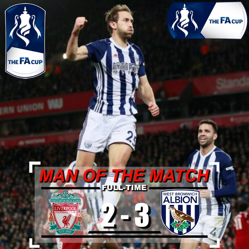 Highlights Fa Cup : Liverpool 2 – 3 West Brom