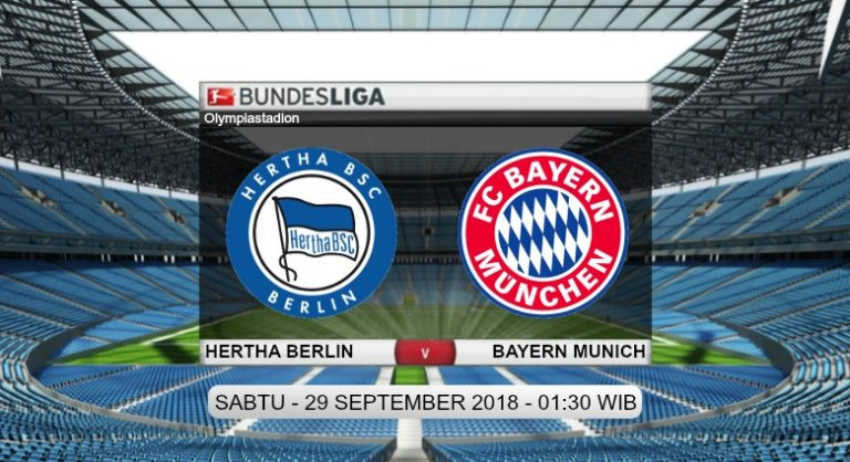 Prediksi Skor Hertha Berlin vs Bayern Munich 29 September 2018