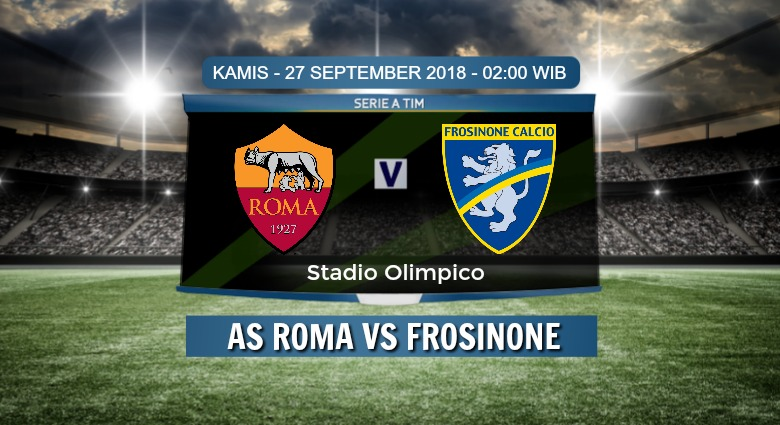 Prediksi Skor AS Roma vs Frosinone 27 September 2018