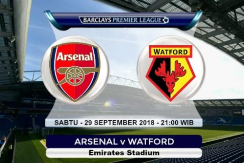 Prediksi Skor Arsenal vs Watford 29 September 2018