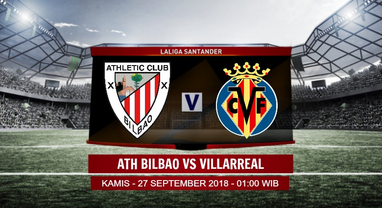 Prediksi Skor Ath Bilbao vs Villarreal 27 September 2018
