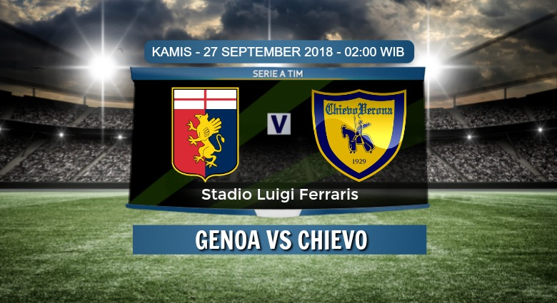 Prediksi Skor Genoa vs Chievo 27 September 2018