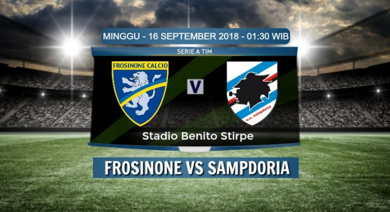 Prediksi Skor Frosinone vs Sampdoria 16 September 2018