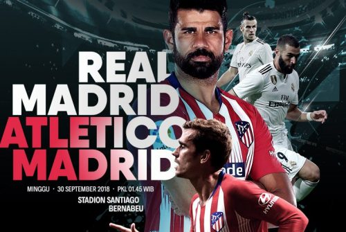Link Streaming La Liga : Real Madrid Vs Atletico Madrid