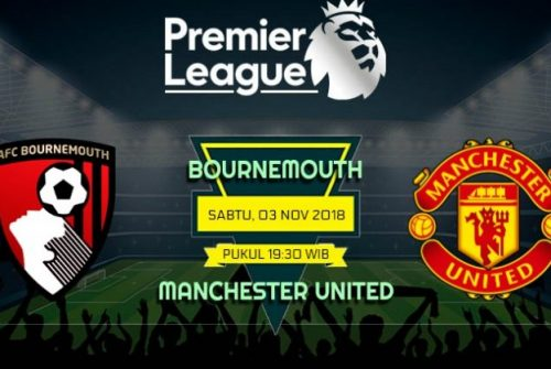 Prediksi Skor Bournemouth vs Manchester United 03 November 2018