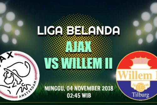 Prediksi Skor Ajax vs Willem II 04 November 2018