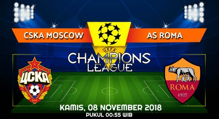 Prediksi Skor CSKA Moscow vs AS Roma 08 November 2018