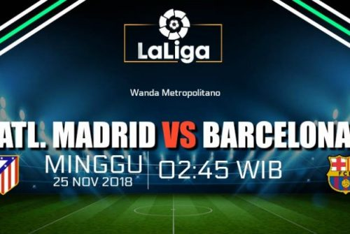Prediksi Skor Atl. Madrid vs Barcelona 25 November 2018