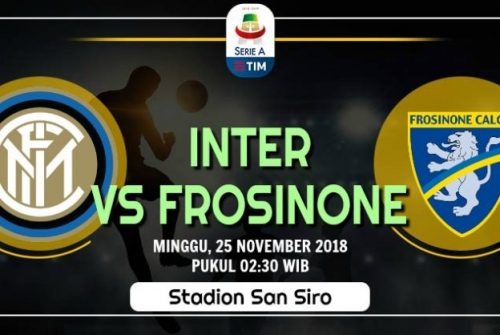 Prediksi Skor Inter vs Frosinone 25 November 2018