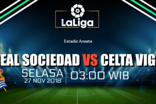 Prediksi Skor Real Sociedad vs Celta Vigo 27 November 2018