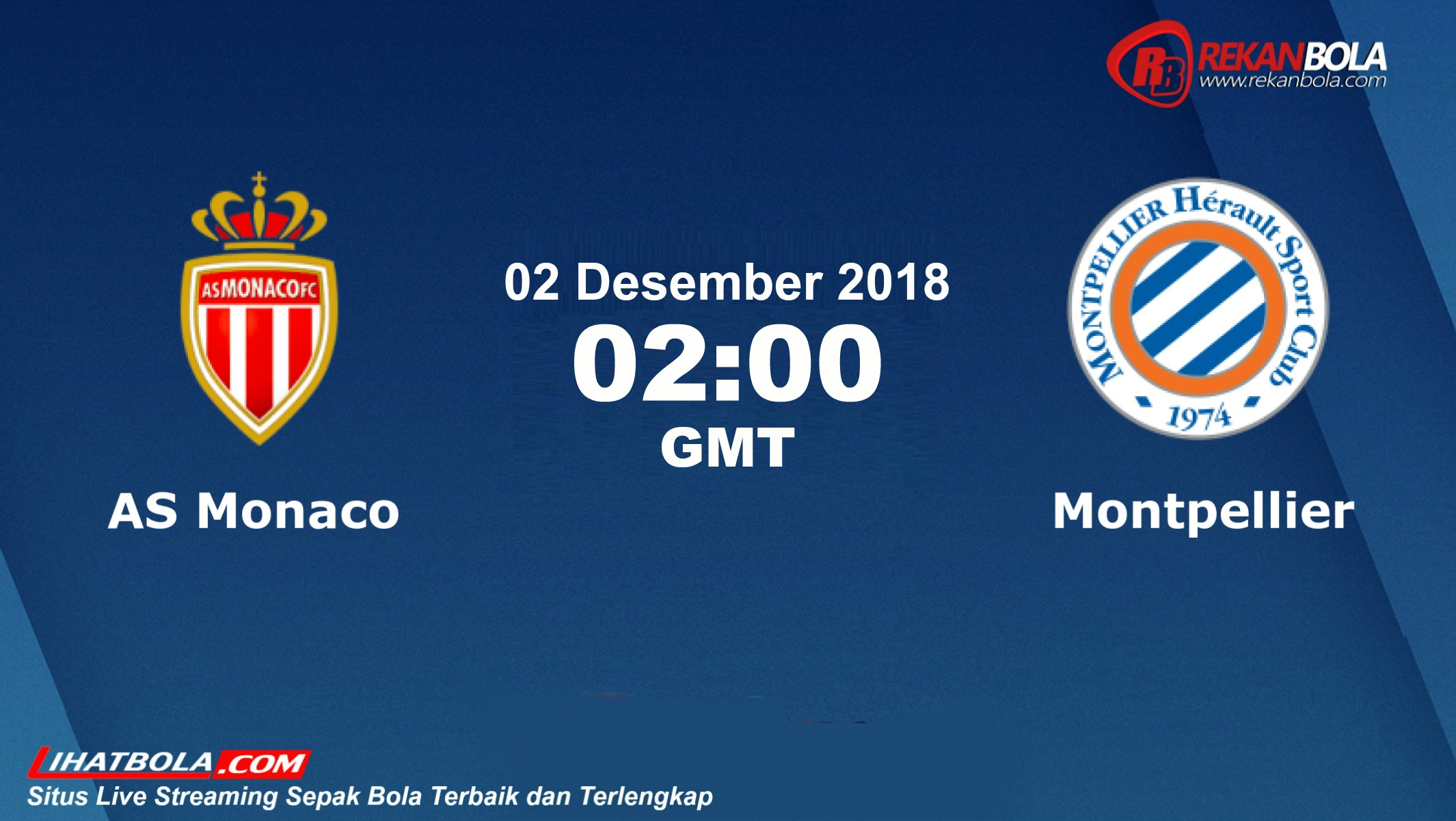 Nonton Siaran Live Streaming Monaco Vs Montpellier 02 Desember 2018