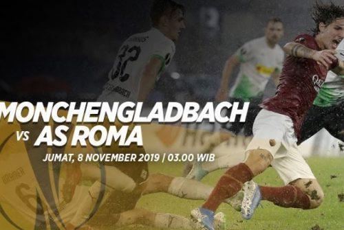 Prediksi Borussia Monchengladbach vs AS Roma 8 November 2019